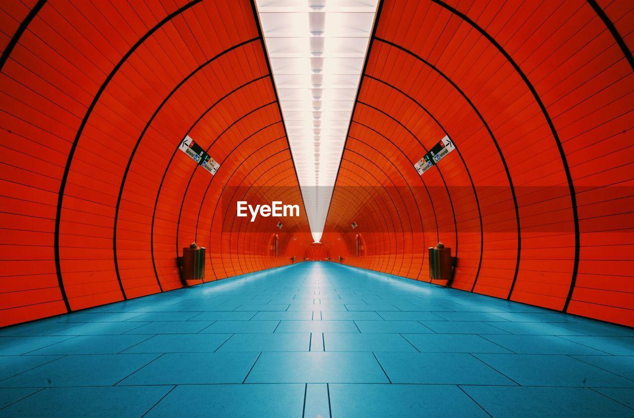 Interior Of Tunnel At Munich U-Bahn