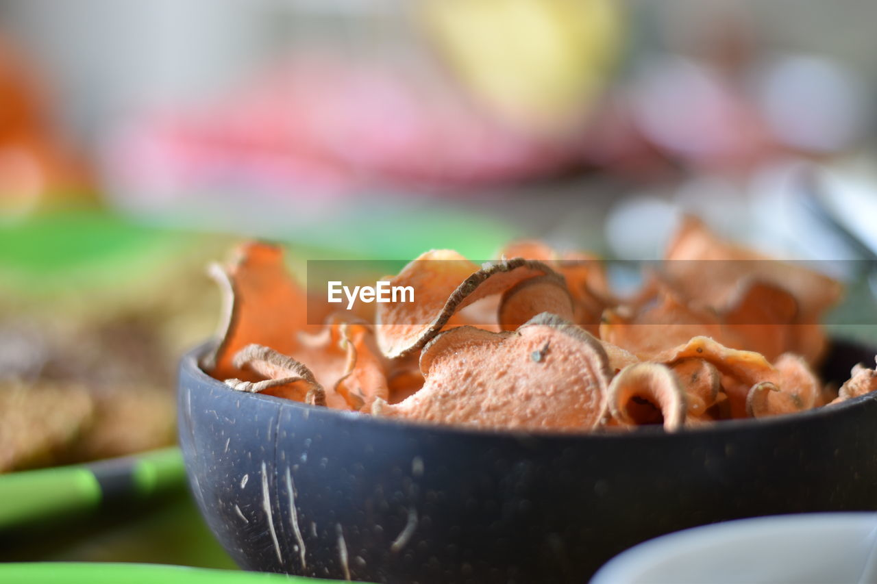 food and drink, food, close-up, selective focus, freshness, still life, wellbeing, ready-to-eat, no people, focus on foreground, indoors, healthy eating, meat, bowl, container, kitchen utensil, day, table, indulgence, serving size, temptation, snack