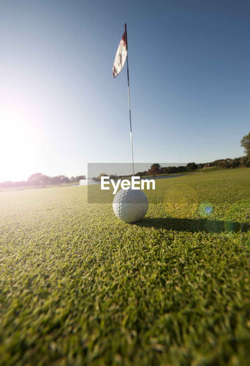 Close-Up Of Golf Ball