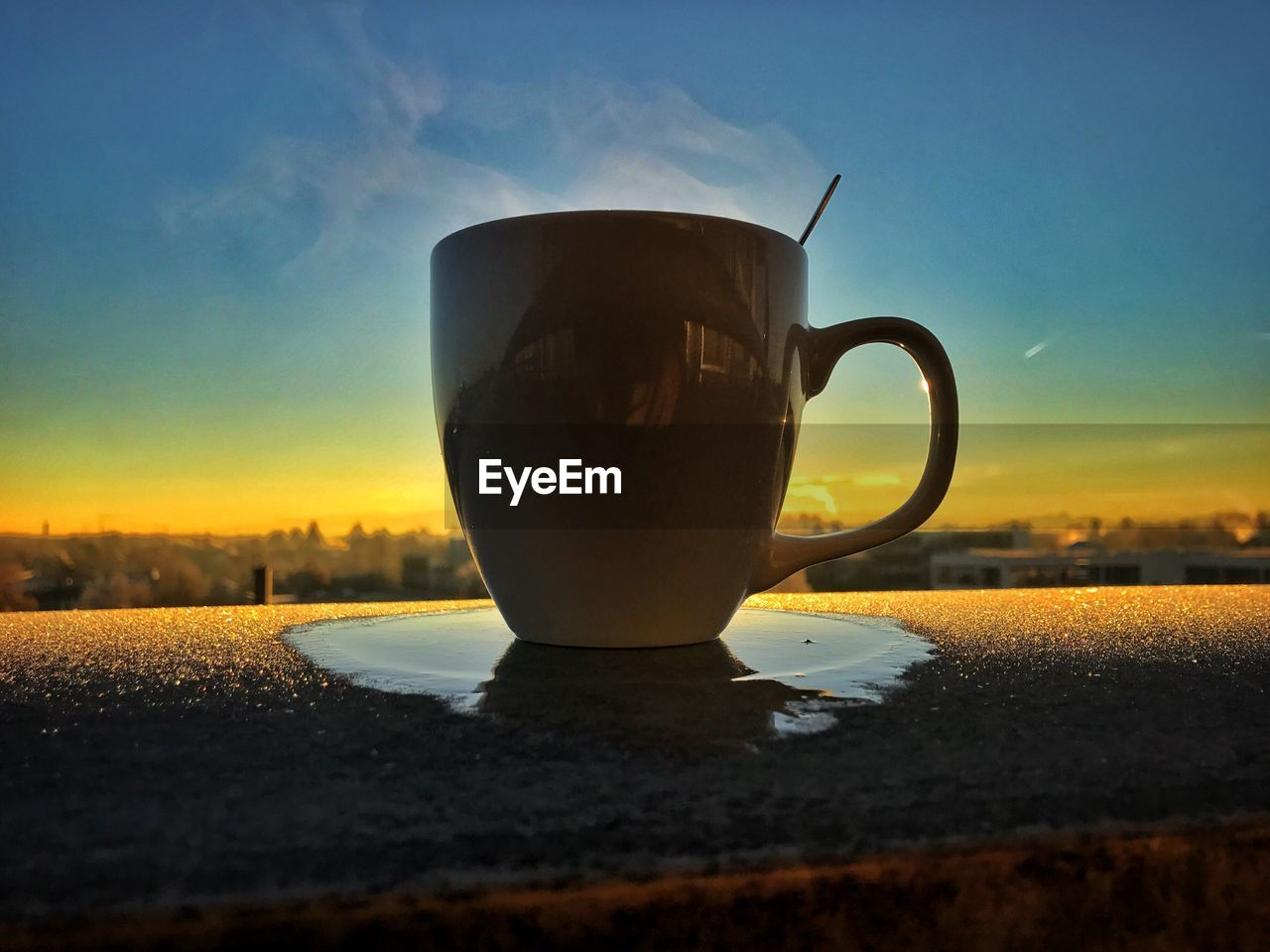 Close-Up Of Tea Cup Against Sky
