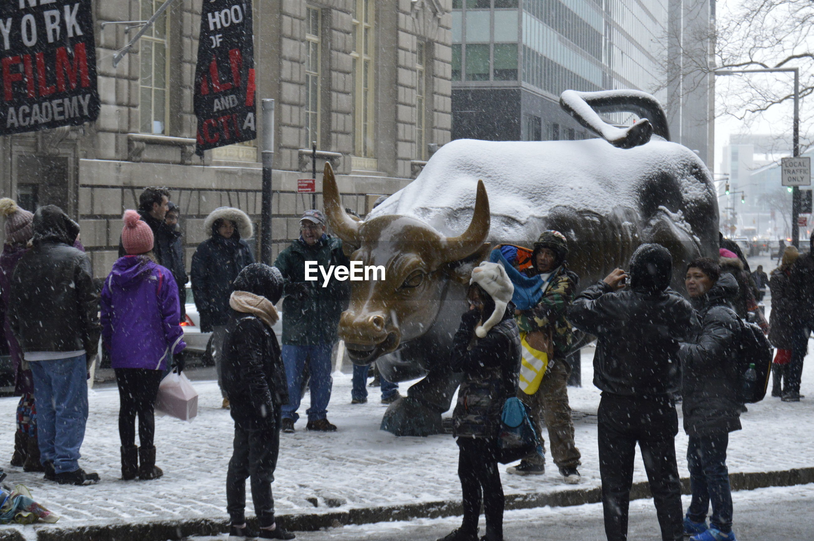 GROUP OF PEOPLE IN SNOW