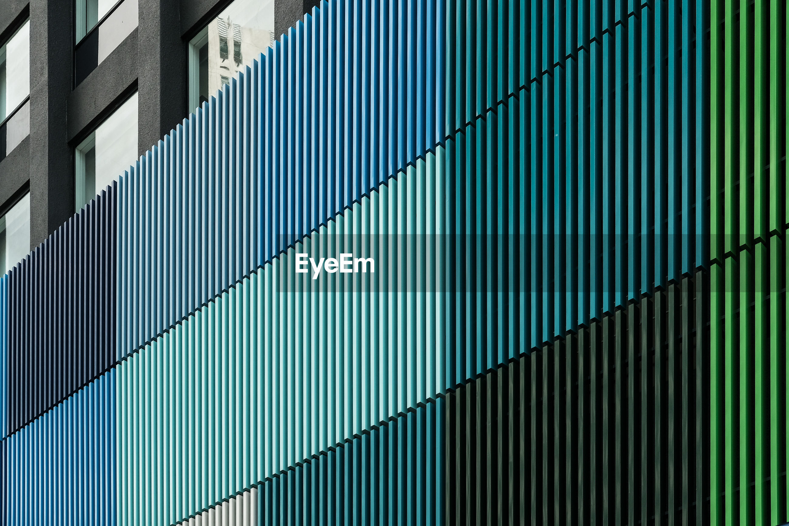 Colorful wall of building