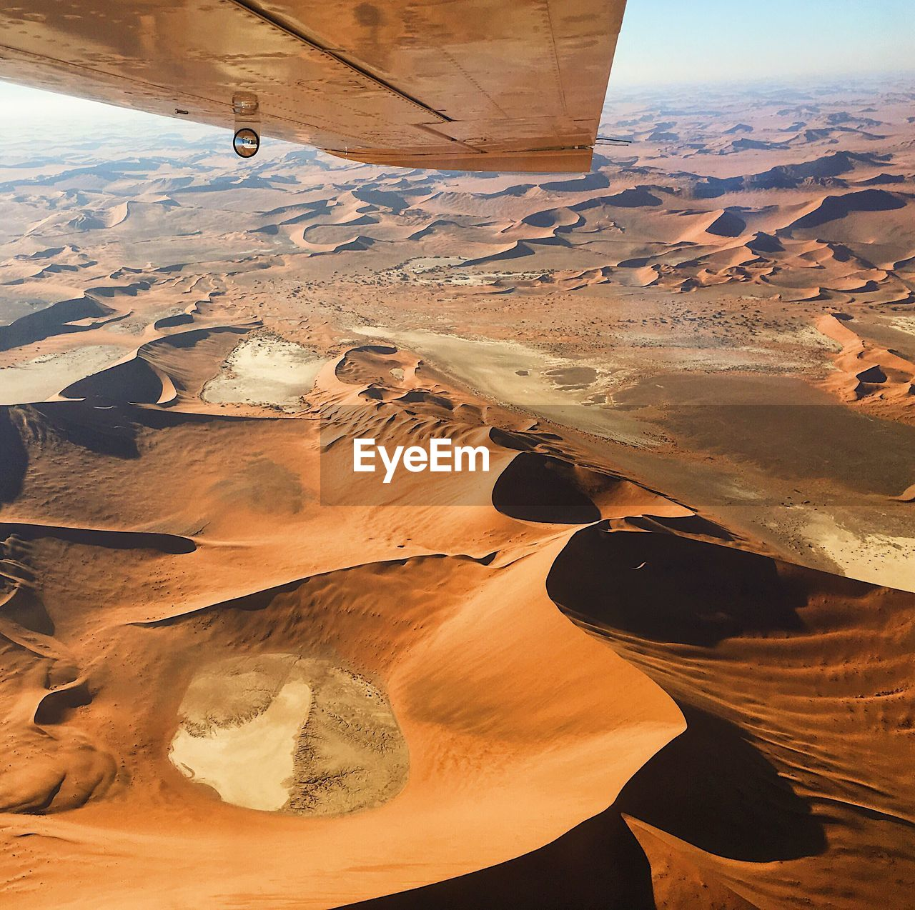 Aerial view of idyllic desert