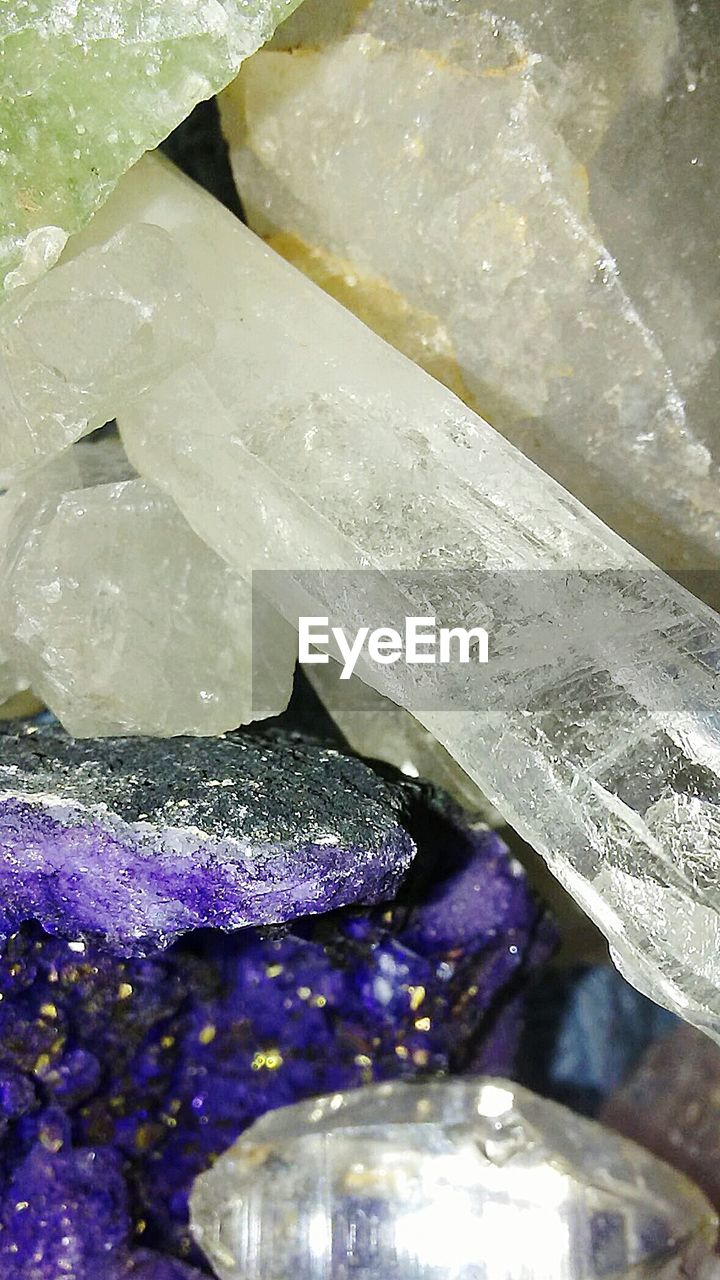 crystal, gemstone, close-up, no people, purple, indoors, day