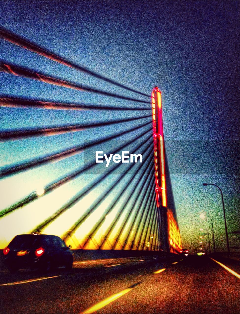 illuminated, red, no people, night, transportation, built structure, outdoors, road, multi colored, architecture, sky