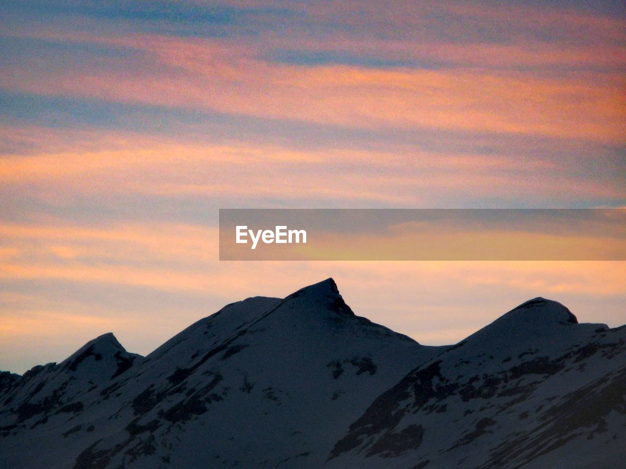 sky, scenics - nature, cloud - sky, mountain, beauty in nature, sunset, cold temperature, winter, snow, tranquility, tranquil scene, nature, no people, snowcapped mountain, idyllic, mountain peak, non-urban scene, mountain range, outdoors