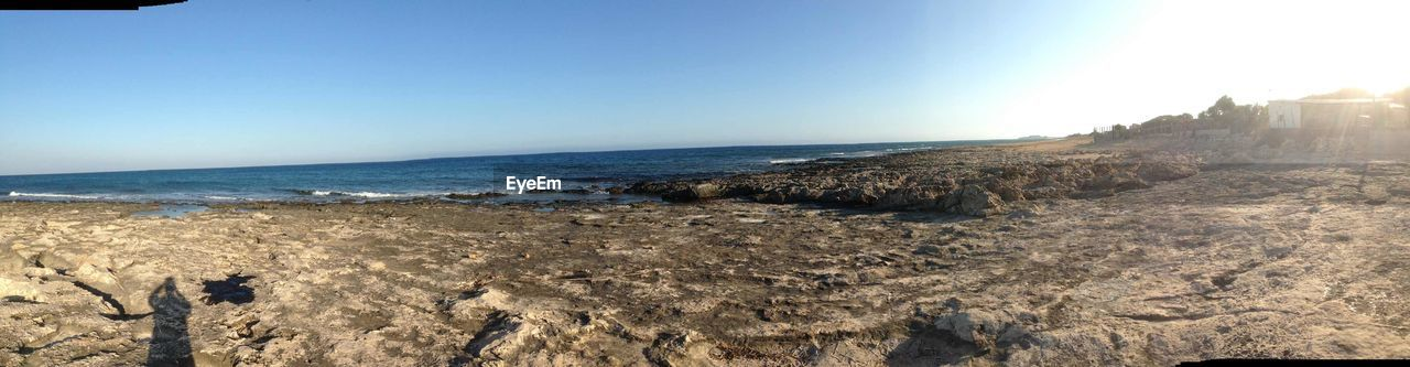 sea, horizon over water, sky, scenics, nature, beach, blue, water, clear sky, no people, sunlight, tranquil scene, outdoors, tranquility, beauty in nature, day