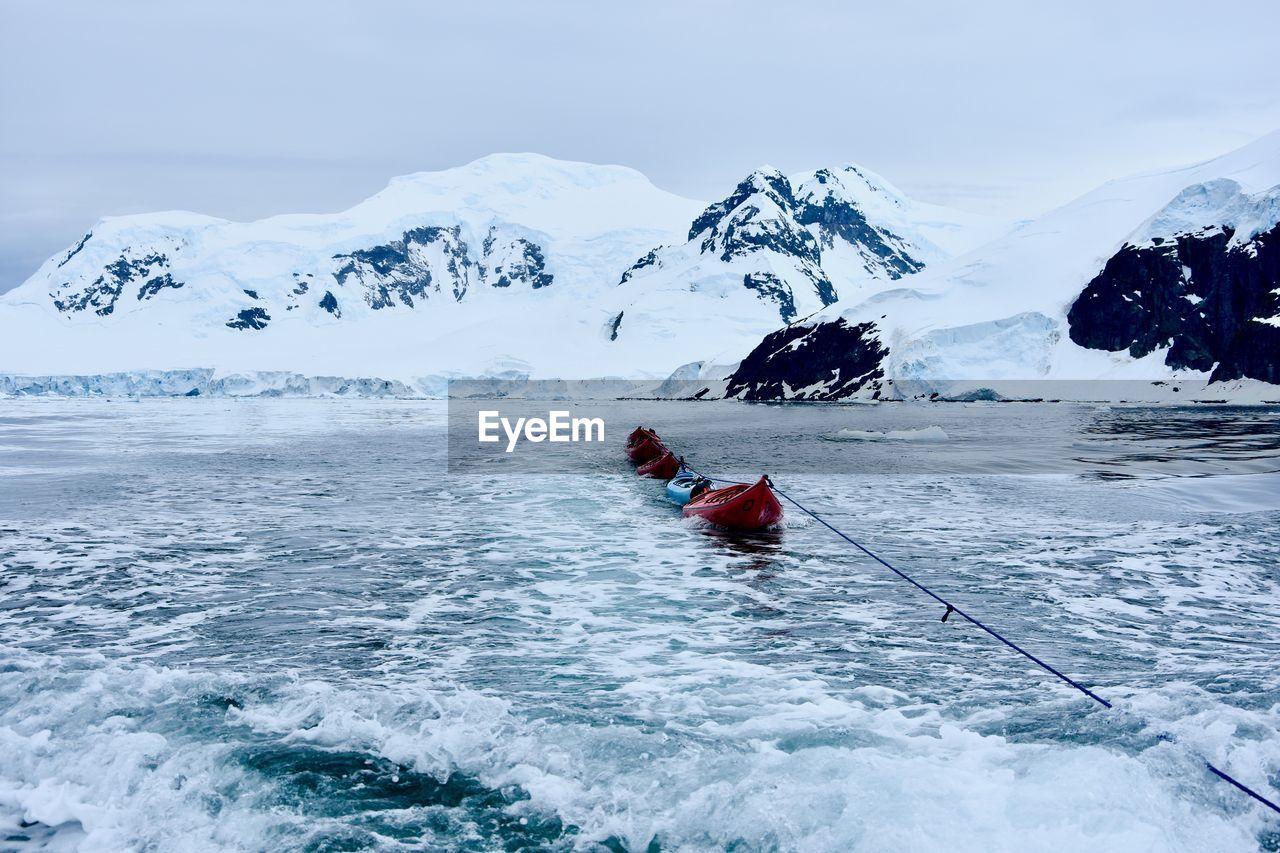Kayak in snow