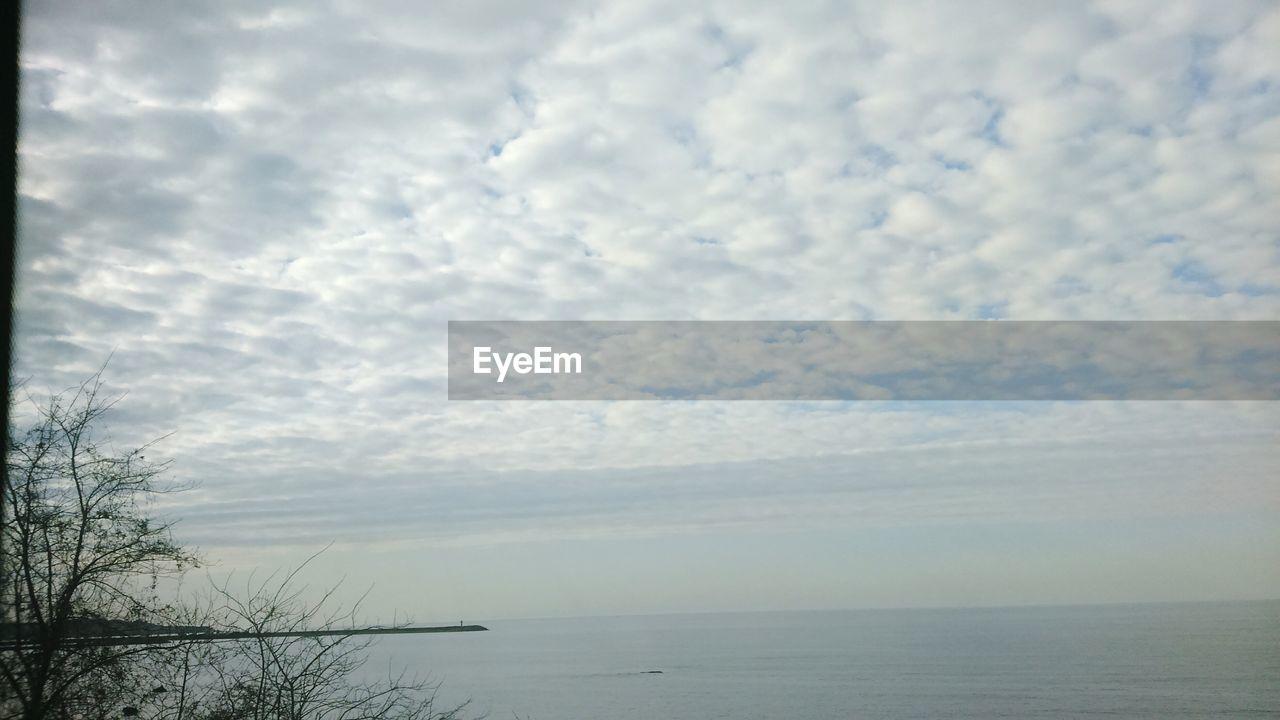 sky, water, sea, cloud - sky, beauty in nature, horizon, scenics - nature, horizon over water, tranquility, tranquil scene, nature, no people, day, outdoors, non-urban scene, waterfront, tree, beach, idyllic