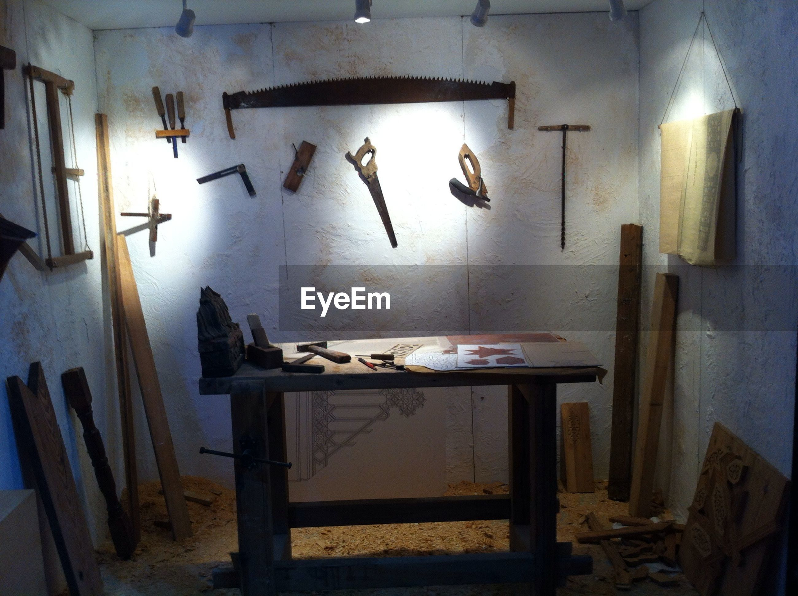 Interior of old workshop