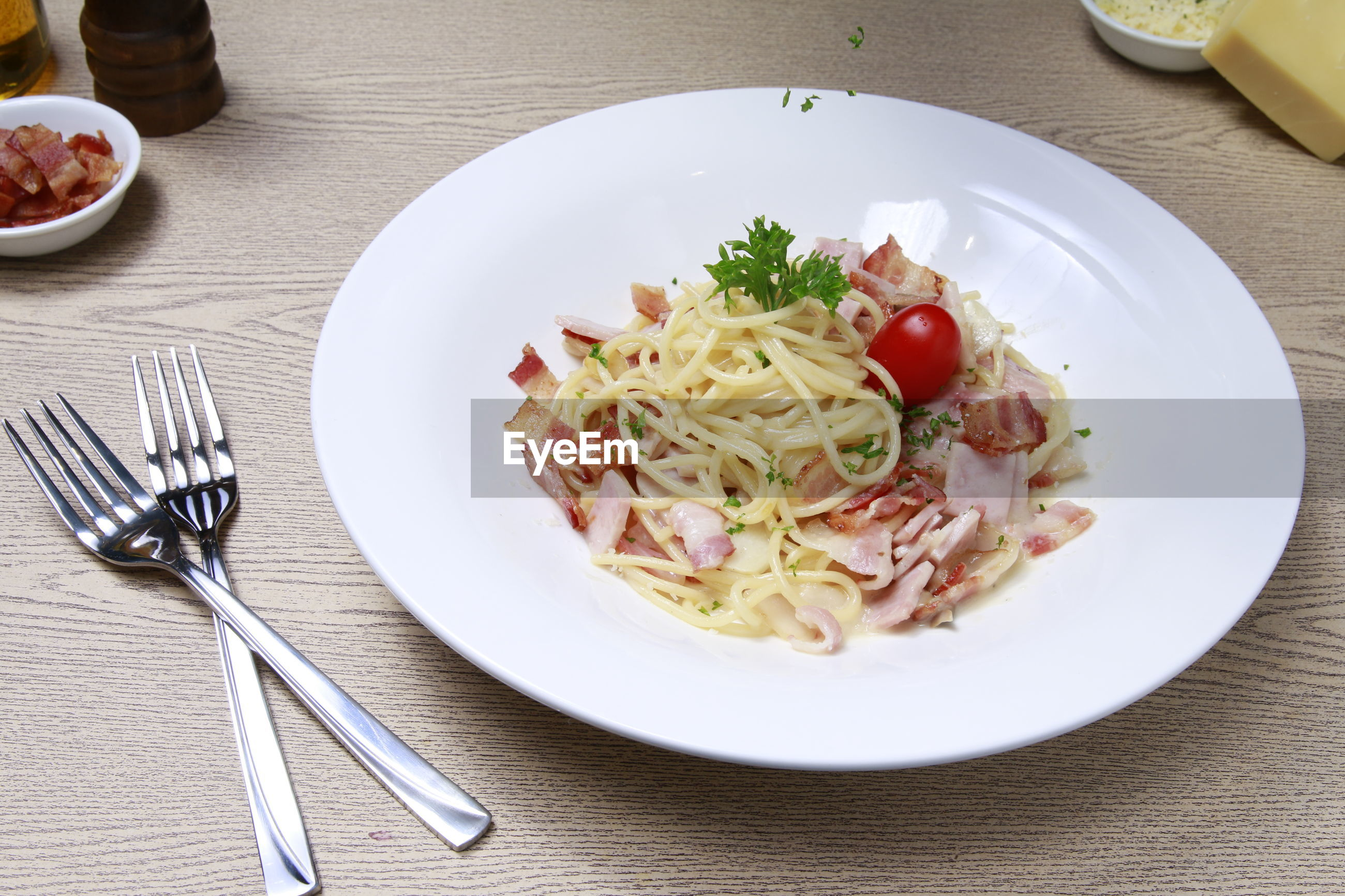 MEAL SERVED ON TABLE