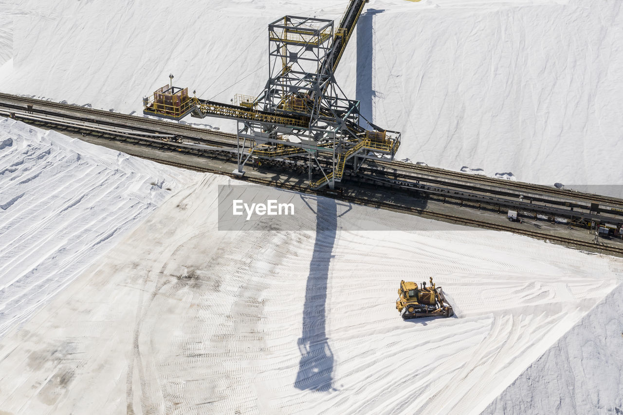 HIGH ANGLE VIEW OF MACHINERY