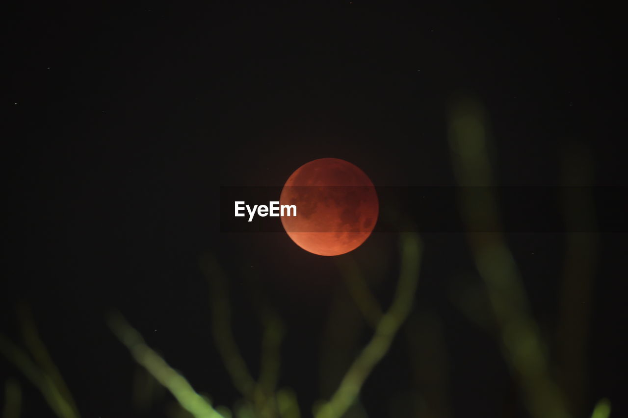 moon, beauty in nature, full moon, circle, nature, night, astronomy, eclipse, moon surface, scenics, orange color, tranquility, planetary moon, tranquil scene, outdoors, no people, clear sky, sky