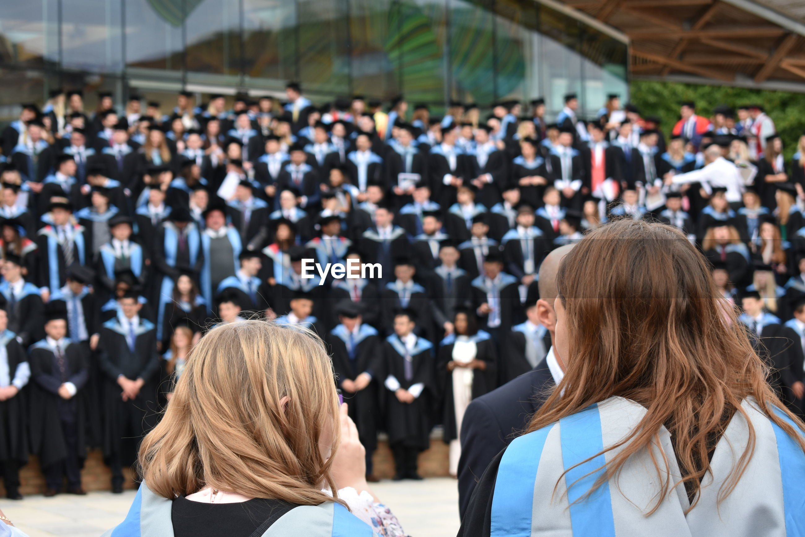 Students during graduation event