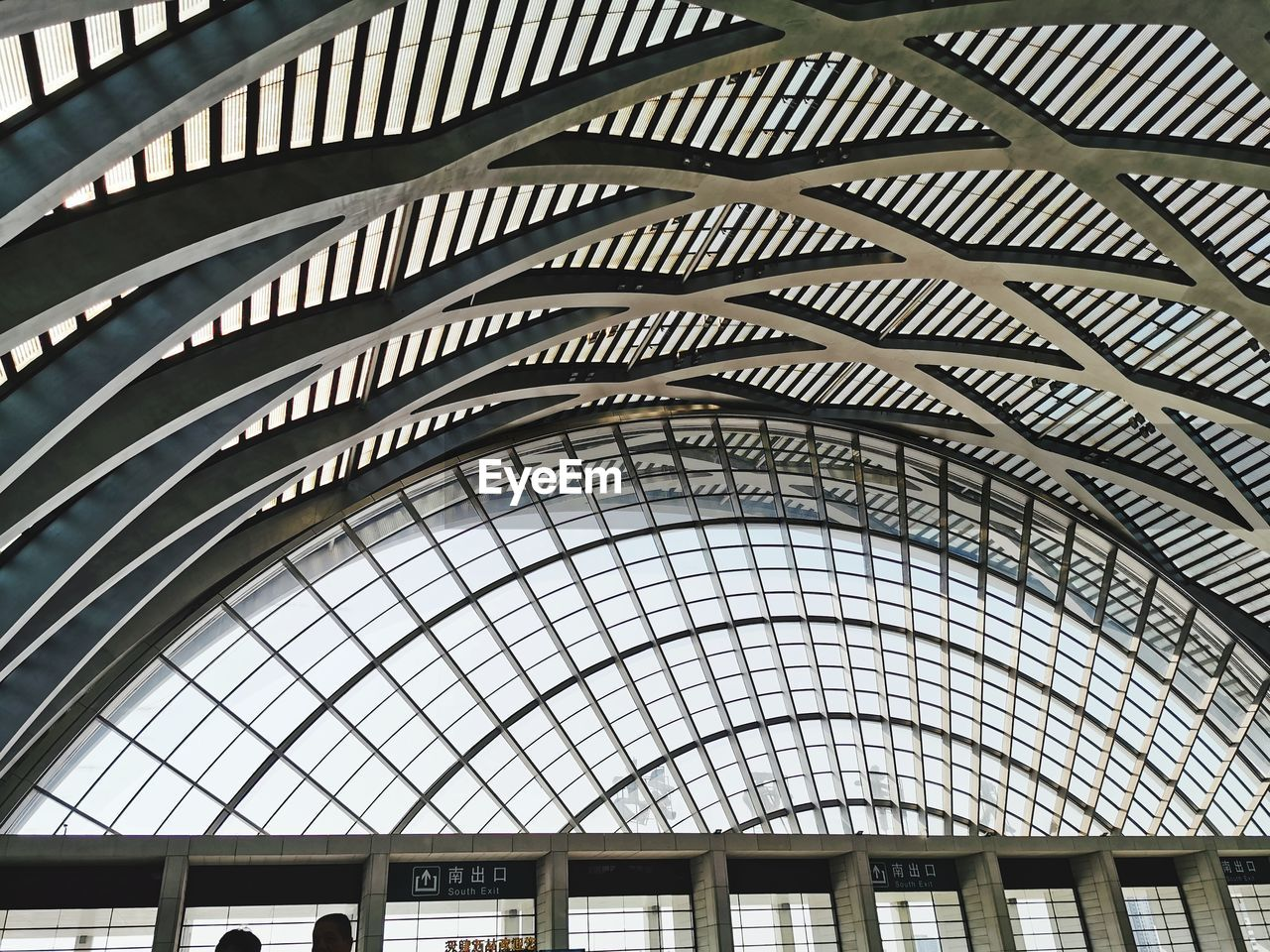 LOW ANGLE VIEW OF SKYLIGHT ON BUILDING