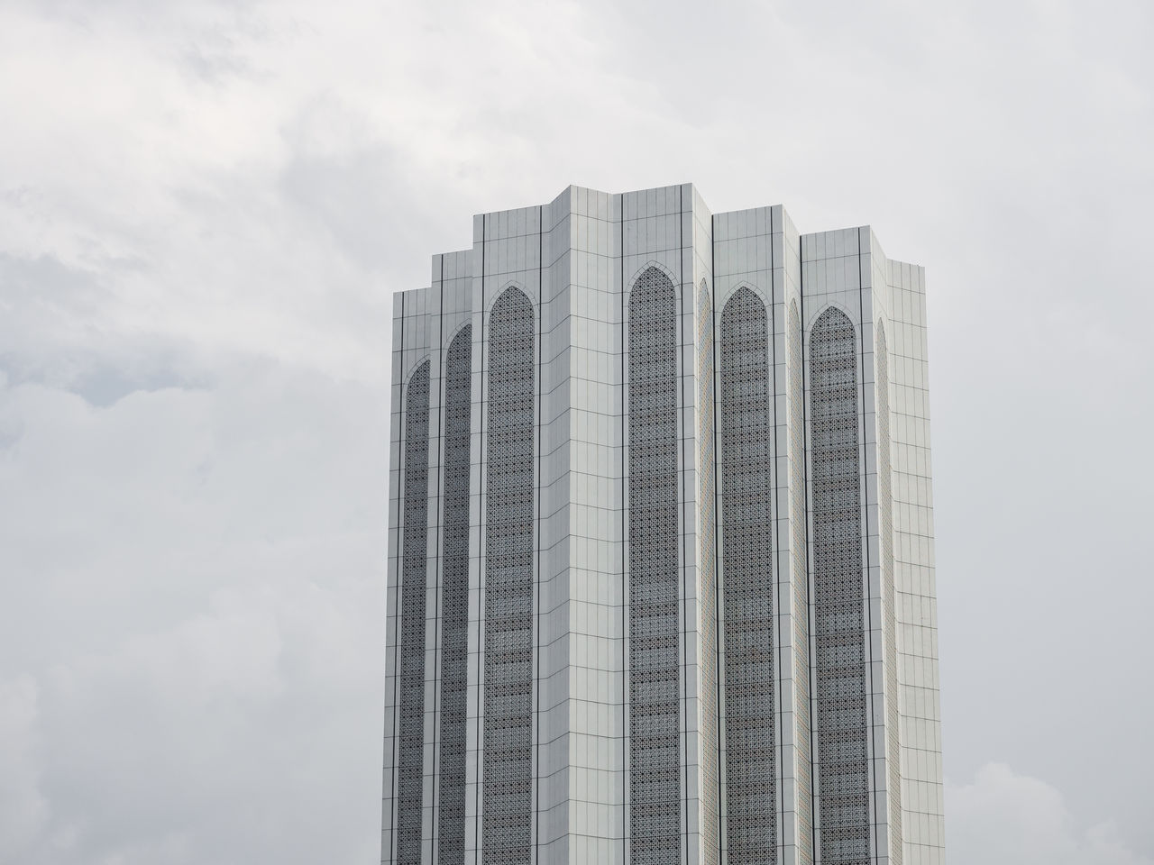 built structure, architecture, building exterior, sky, cloud - sky, office building exterior, tall - high, building, no people, skyscraper, modern, day, low angle view, city, nature, tower, office, outdoors, white color