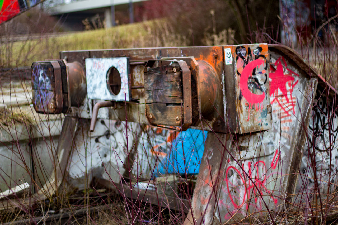 abandoned, rusty, destruction, day, outdoors, no people, grass, desolate
