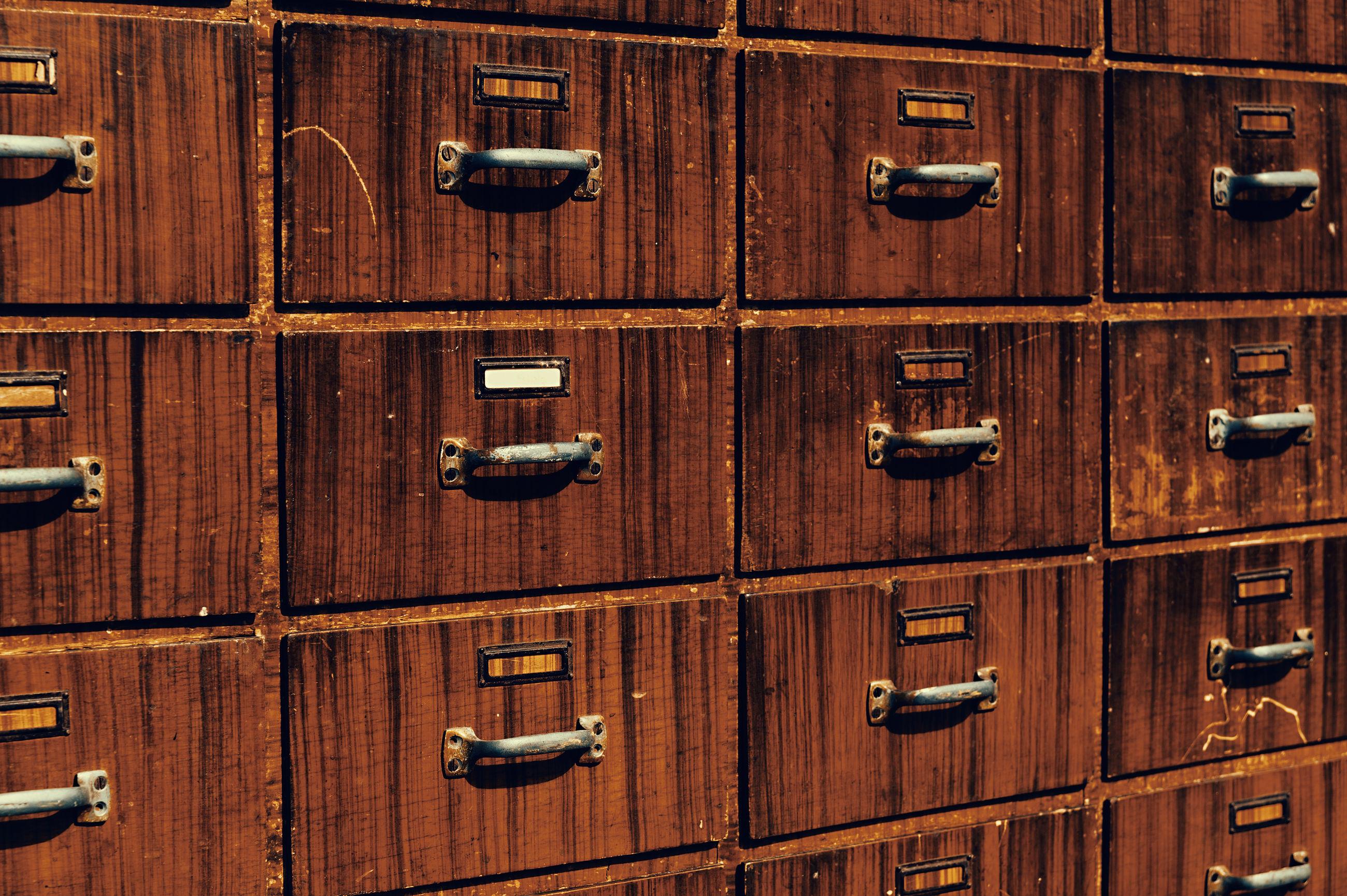 Full frame shot of wooden cabinet
