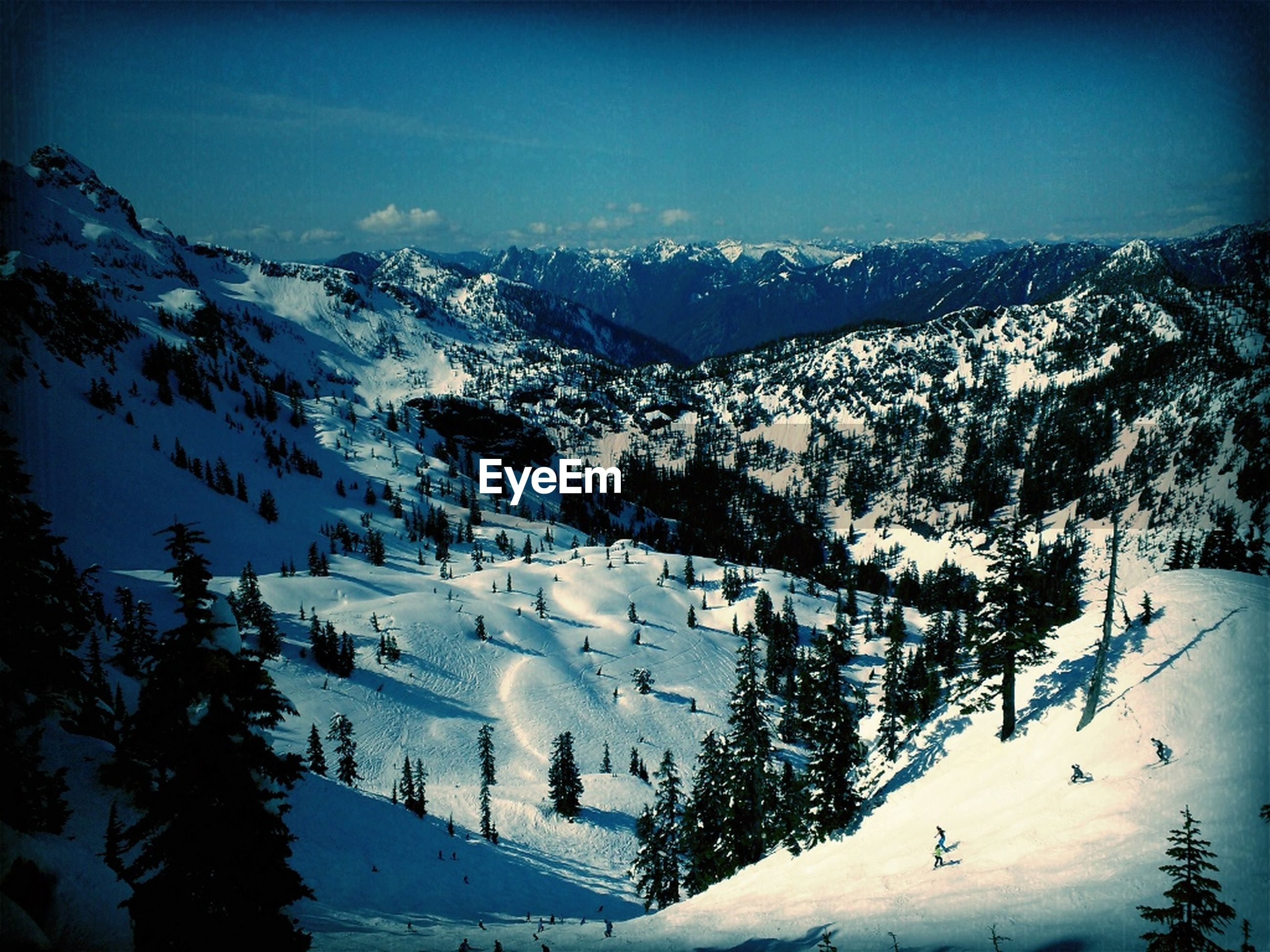 snow, winter, cold temperature, mountain, season, weather, scenics, tranquil scene, beauty in nature, tranquility, mountain range, landscape, snowcapped mountain, nature, covering, clear sky, high angle view, tree, snowcapped, frozen
