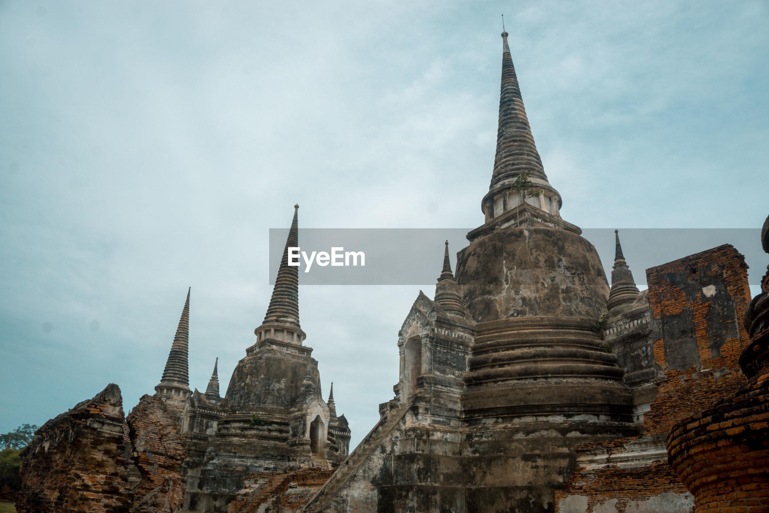 Stupas of a building