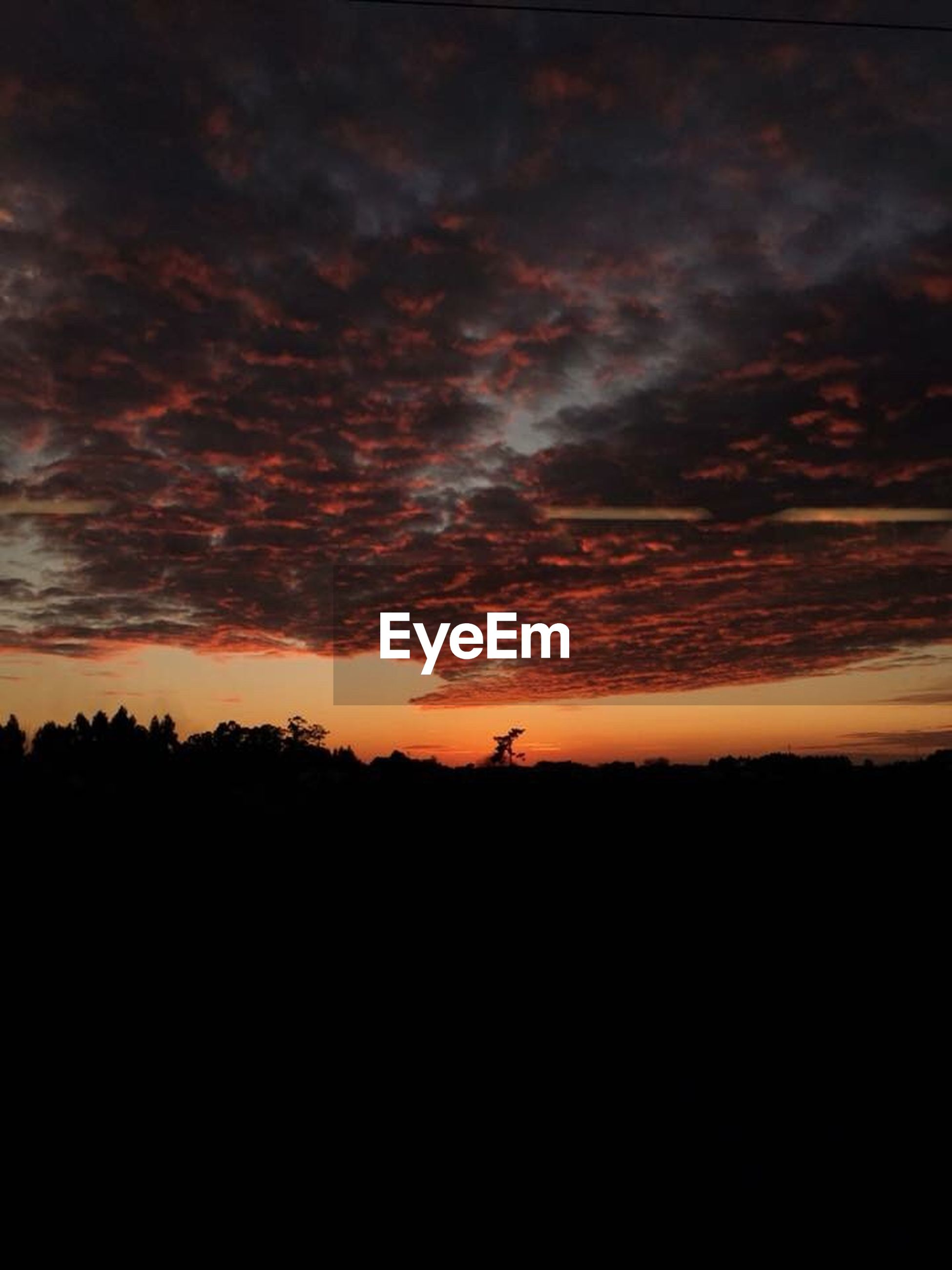 sky, sunset, cloud - sky, silhouette, beauty in nature, orange color, tranquility, scenics - nature, nature, tranquil scene, environment, no people, dark, dramatic sky, idyllic, landscape, outdoors, copy space, love, majestic