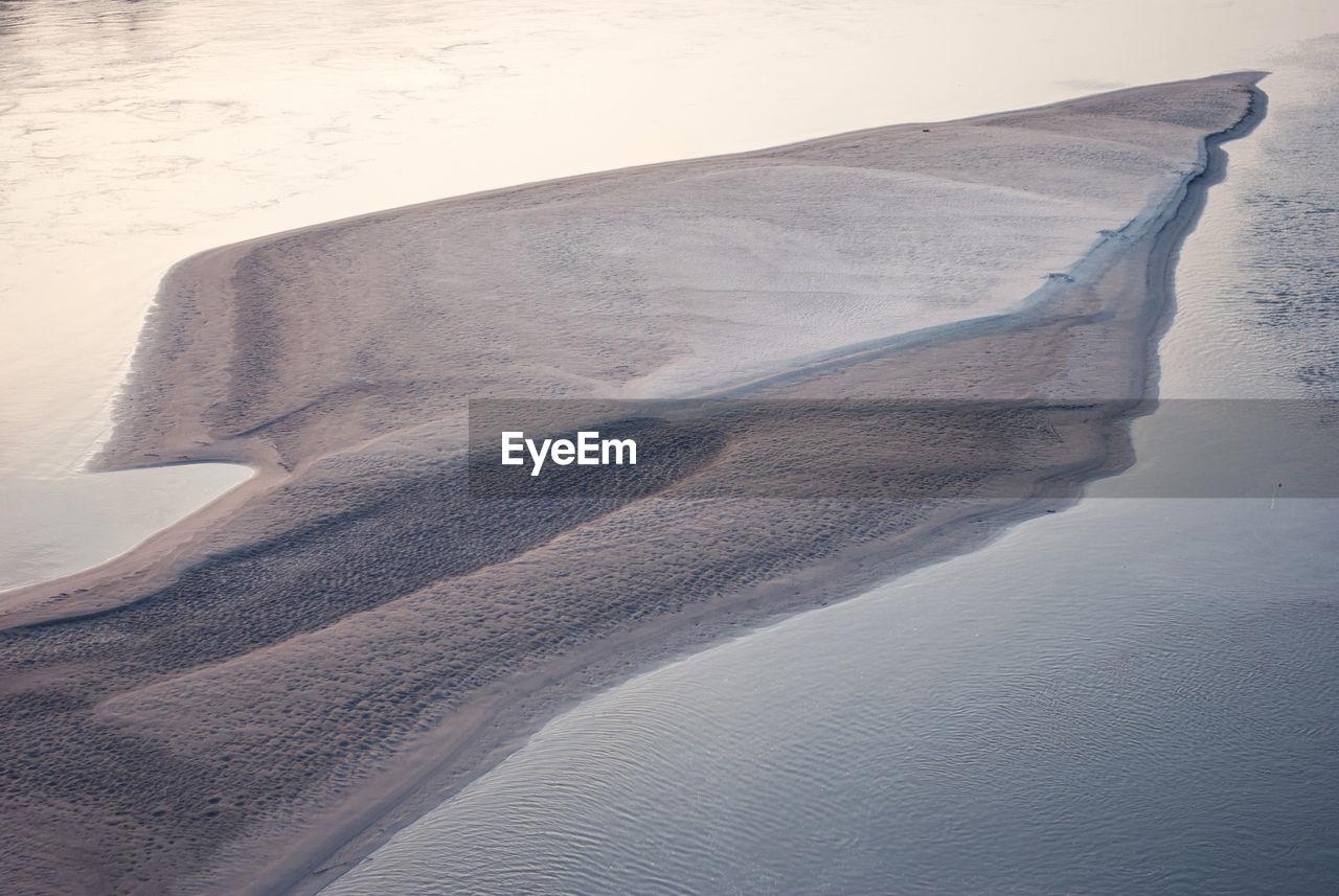 High Angle View Of Island Amidst Vistula River