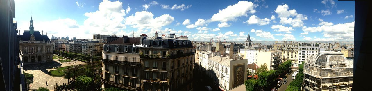 built structure, building exterior, architecture, sky, cloud - sky, city, panoramic, nature, building, day, no people, cityscape, residential district, sunlight, high angle view, outdoors, history, travel, the past