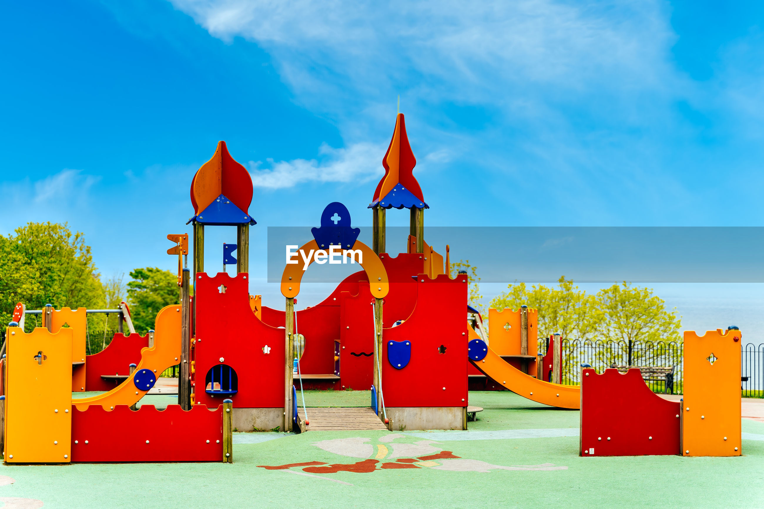 View of playground against sky