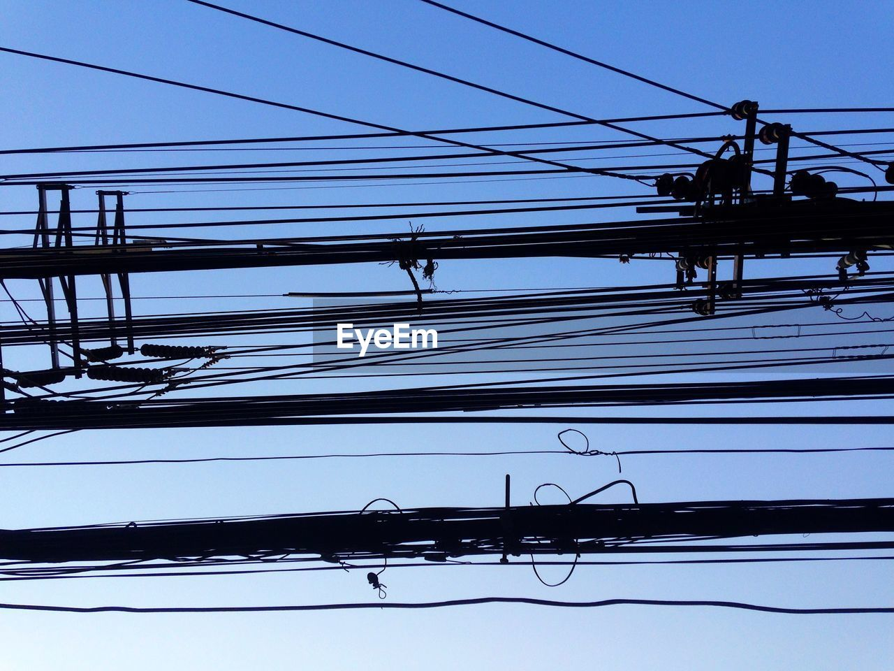 cable, power line, power supply, connection, electricity pylon, electricity, fuel and power generation, technology, outdoors, sky, day, silhouette, complexity, no people, nature, clear sky, telephone line