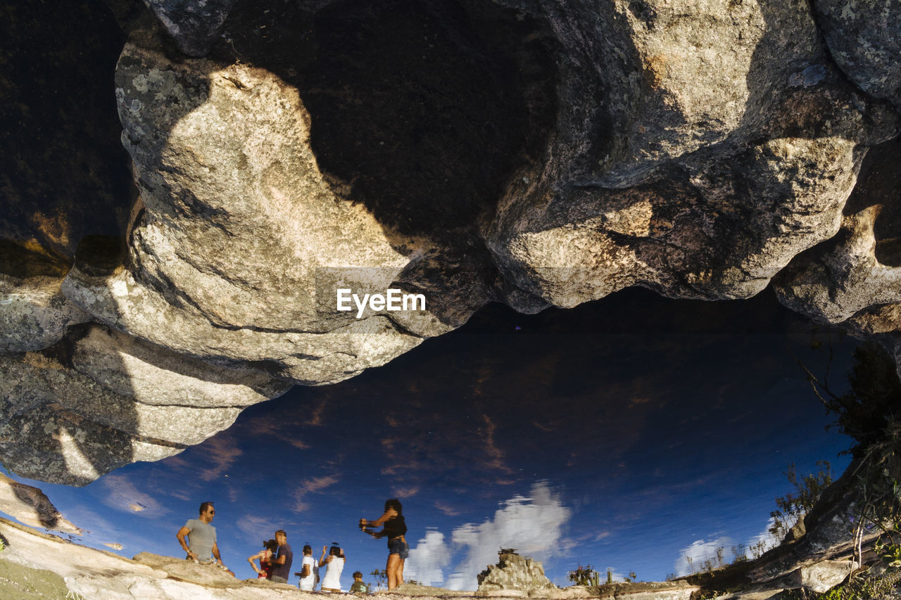rock - object, rock formation, nature, geology, beauty in nature, physical geography, day, outdoors, tranquility, textured, no people, tranquil scene, cave, scenics, close-up, sky