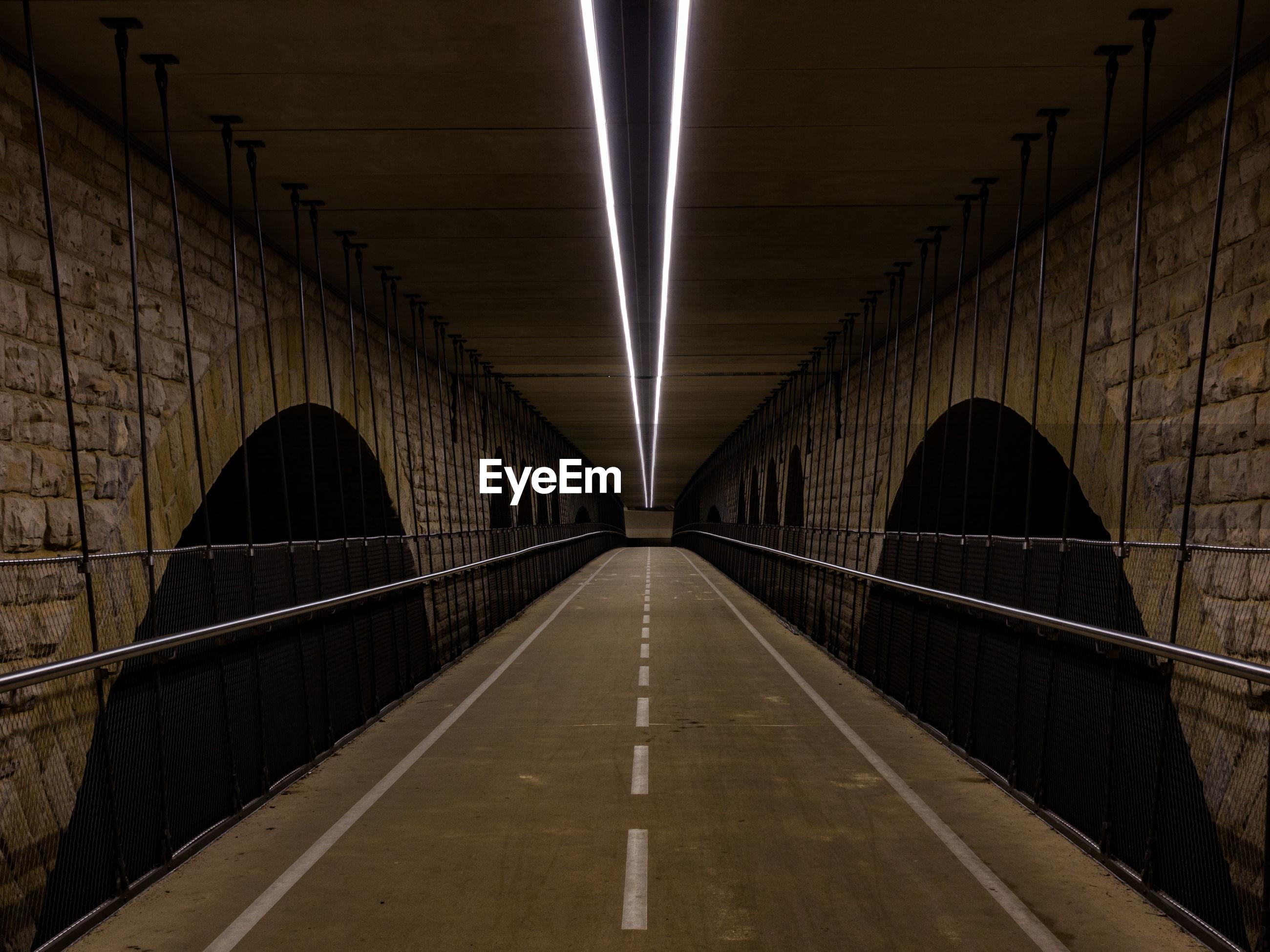 VIEW OF EMPTY BRIDGE
