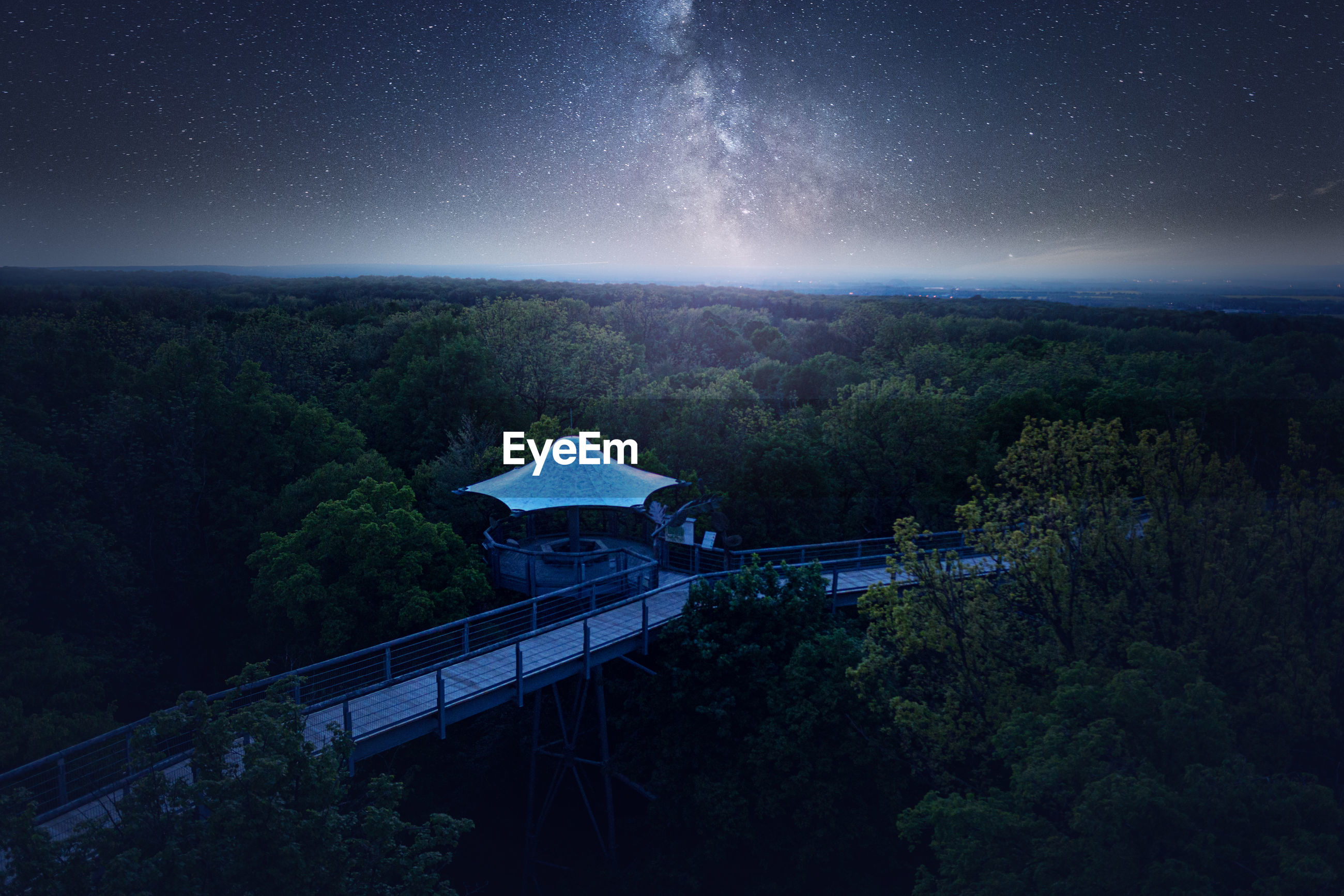 SCENIC VIEW OF BRIDGE AGAINST SKY AT NIGHT