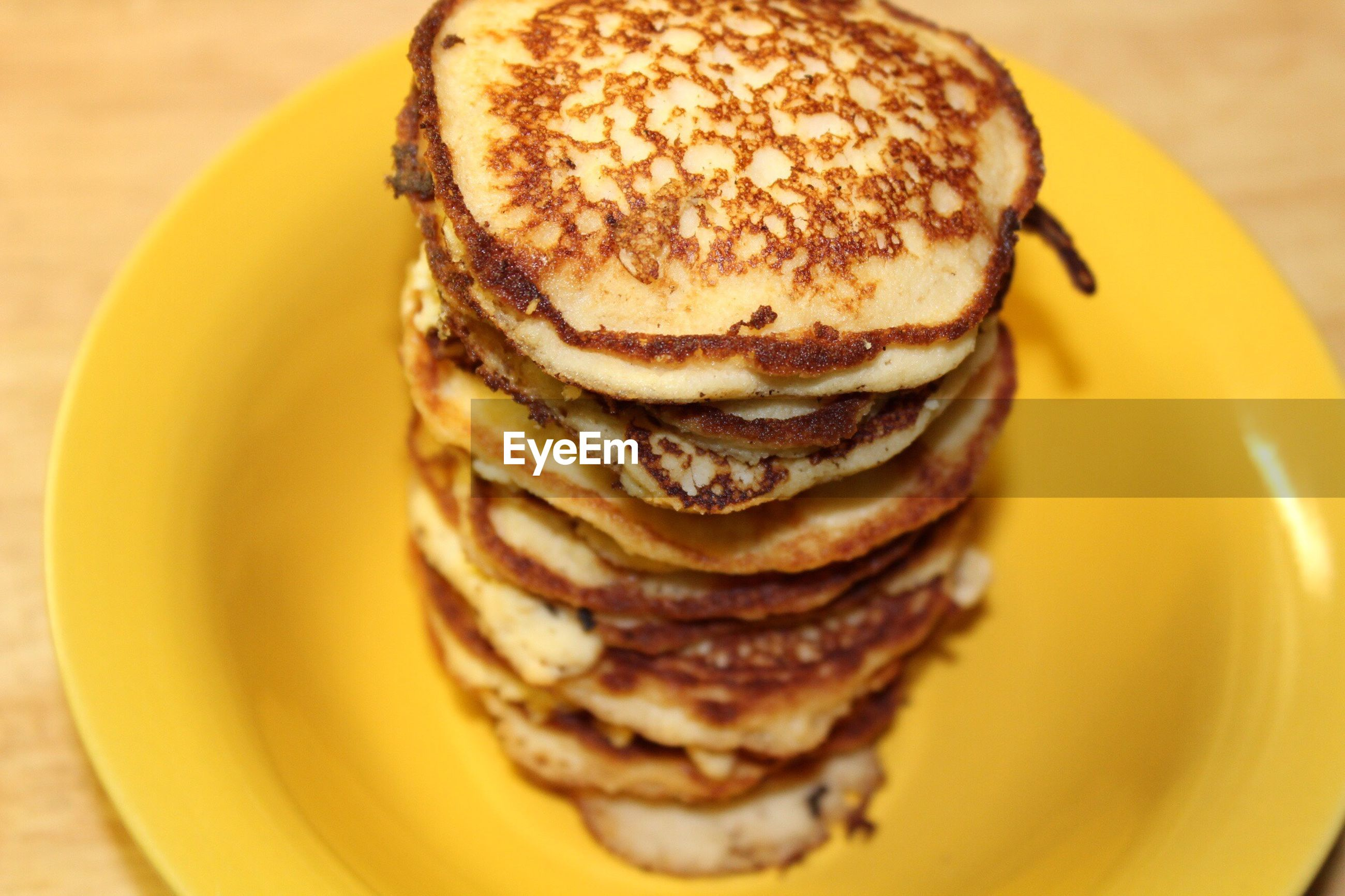 food and drink, food, stack, close-up, plate, freshness, pancake, bread, sweet food, indoors, yellow, no people, ready-to-eat, day