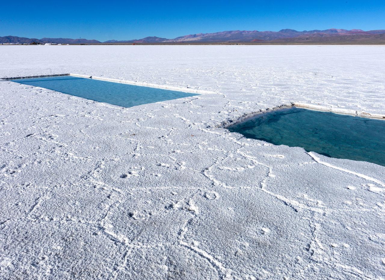 Salares de la puna argentina natural deposit of salts