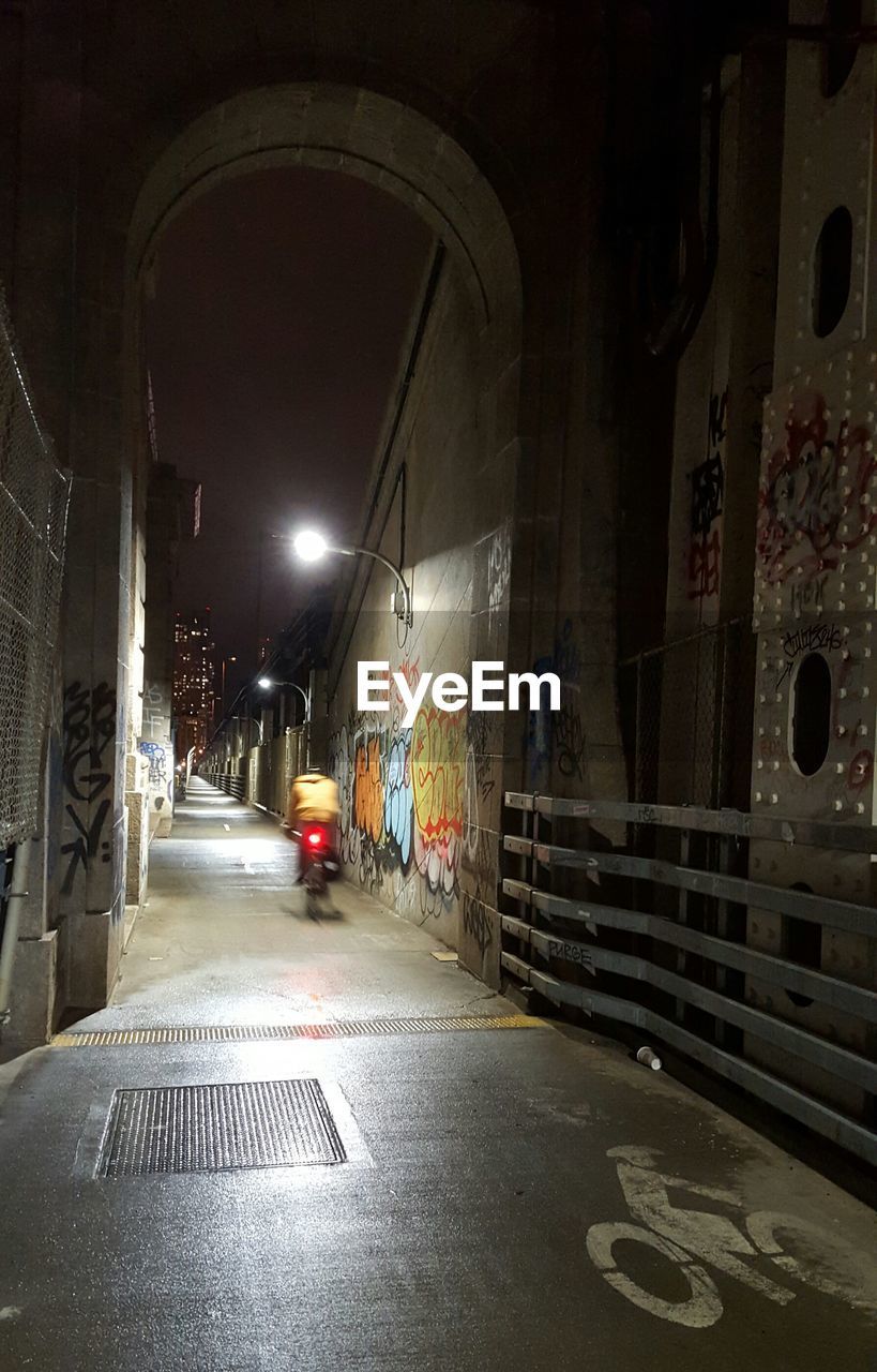 illuminated, indoors, architecture, built structure, night, no people, building exterior