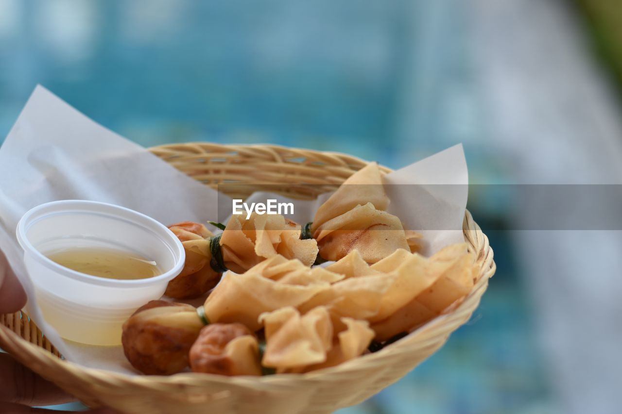 food and drink, food, freshness, ready-to-eat, close-up, selective focus, still life, indulgence, unhealthy eating, no people, table, snack, bowl, sweet food, temptation, focus on foreground, dumpling, serving size, wellbeing, steamed