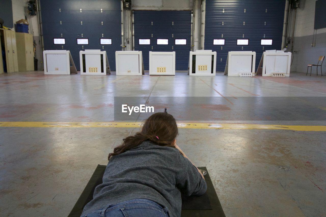 Woman Shooting In Room