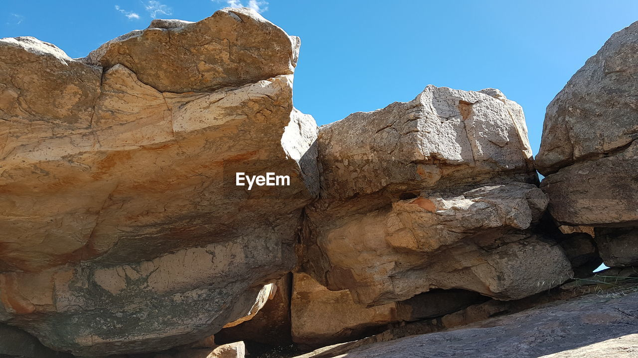 rock, sky, rock - object, nature, rock formation, clear sky, mountain, solid, adventure, outdoors, activity, hiking, freedom, travel, environment, geology, day, strength, cliff, formation, mountain peak, eroded