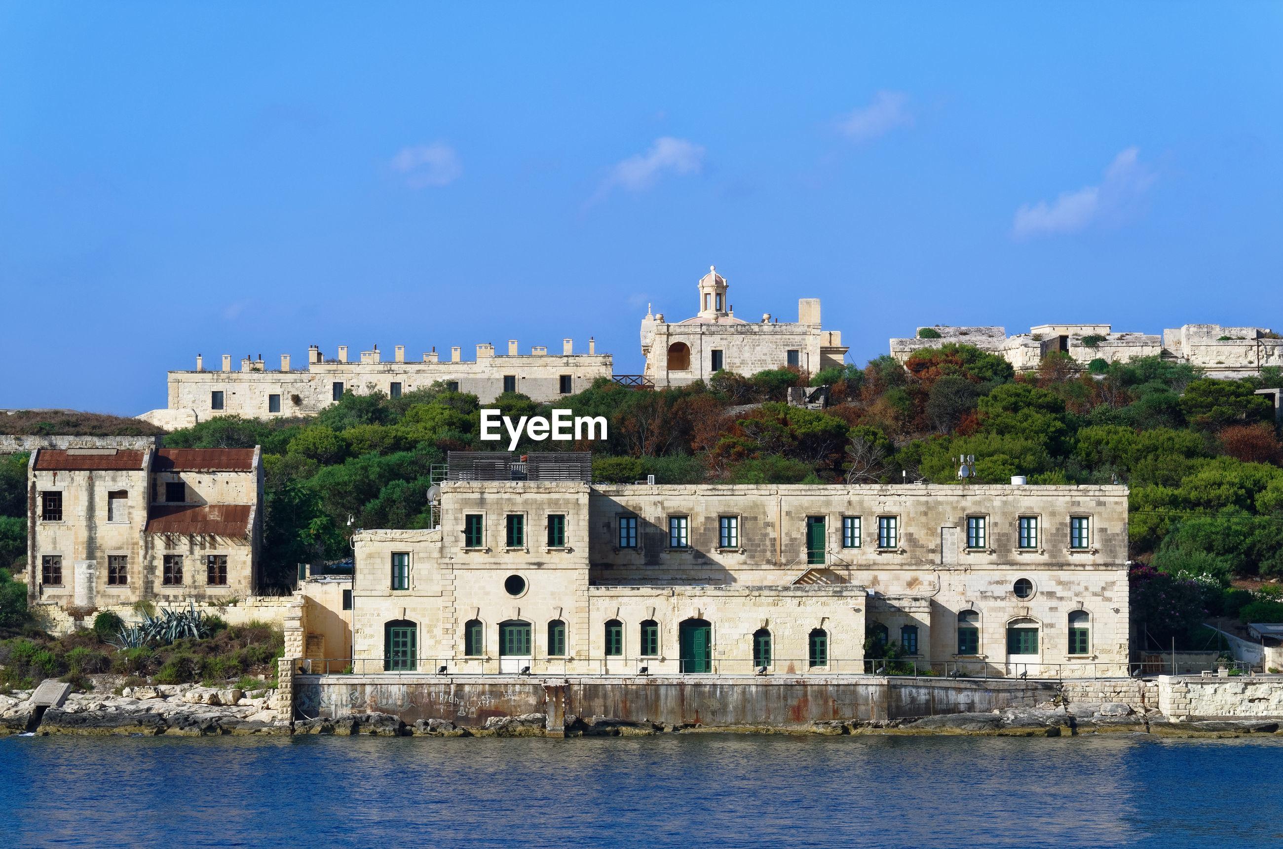 Former hospital building on the manoel island in malta