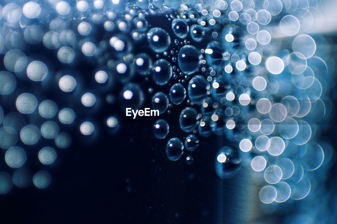 Close-up of bubbles