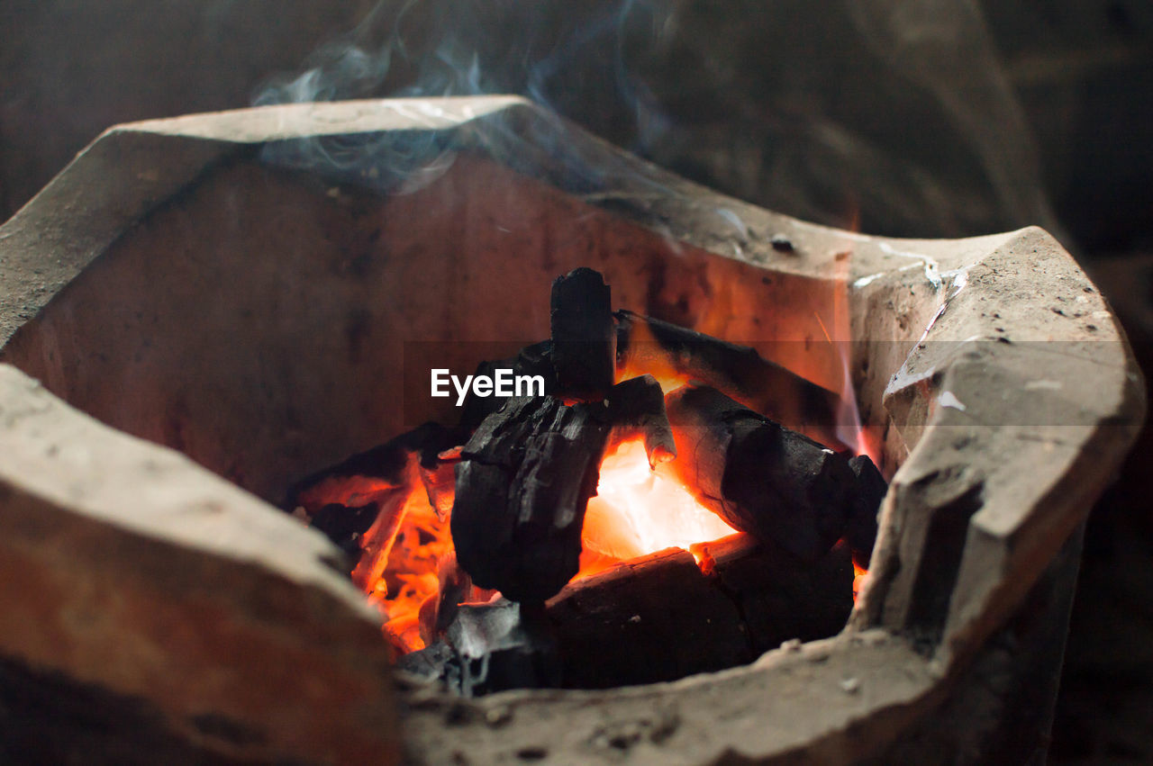 heat - temperature, burning, fire, fire - natural phenomenon, flame, log, wood, wood - material, firewood, close-up, no people, nature, glowing, orange color, environment, ash, outdoors, motion, high angle view, burnt, bonfire