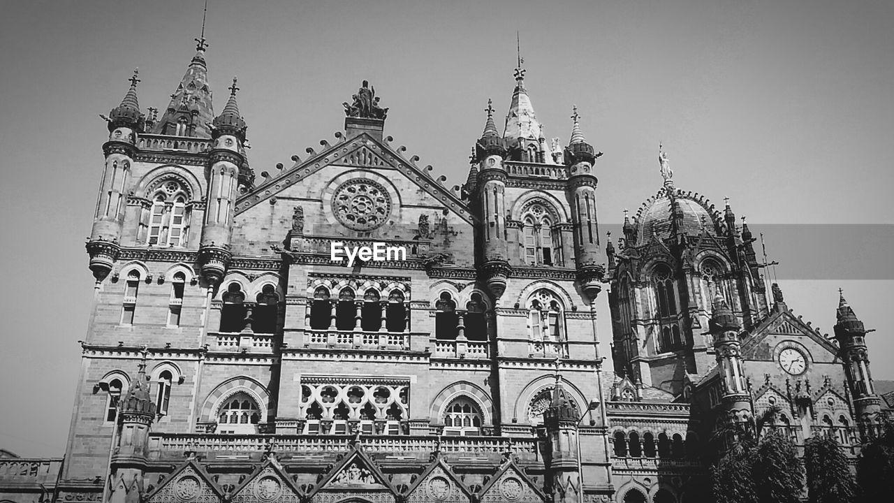 Low Angle View Of Historic Chhatrapati Shivaji Terminus Against Sky