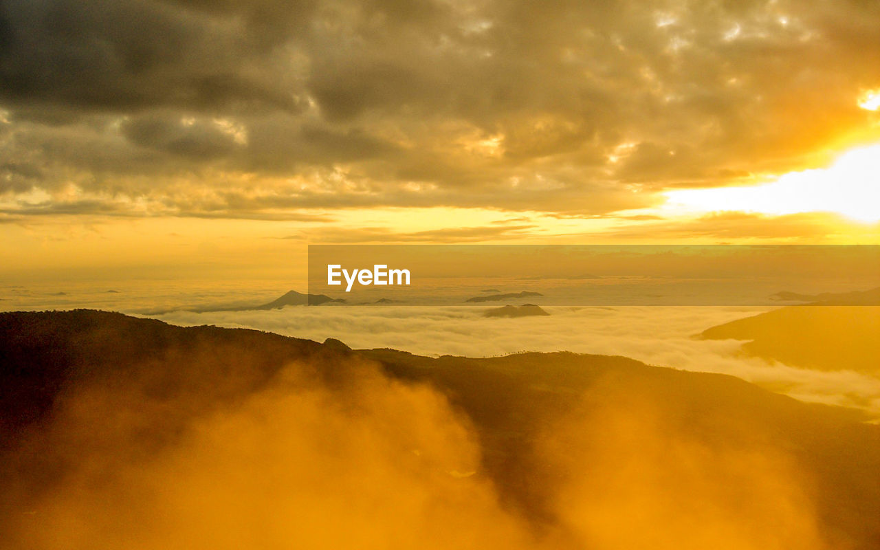 Scenic View Of Yellow Sky During Sunset