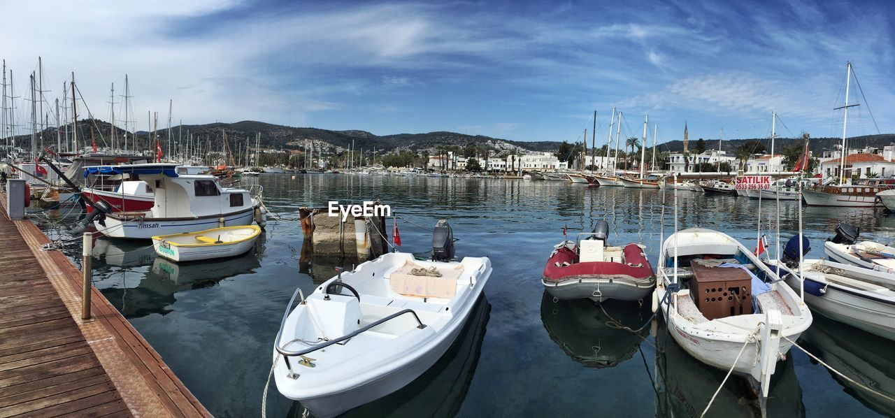 Boats Moored At Marina