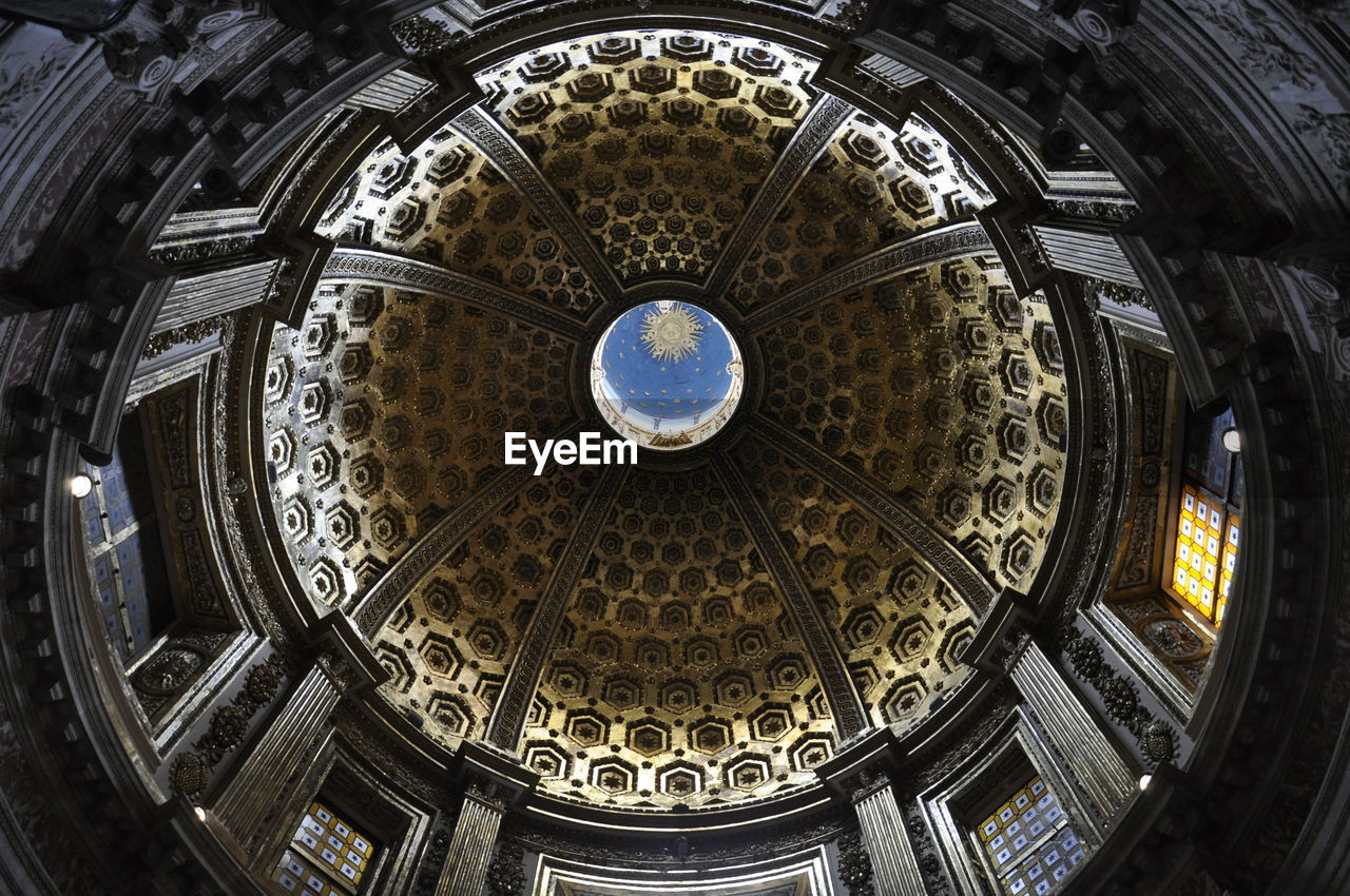 Low Angle View Of Siena Cathedral Cupola
