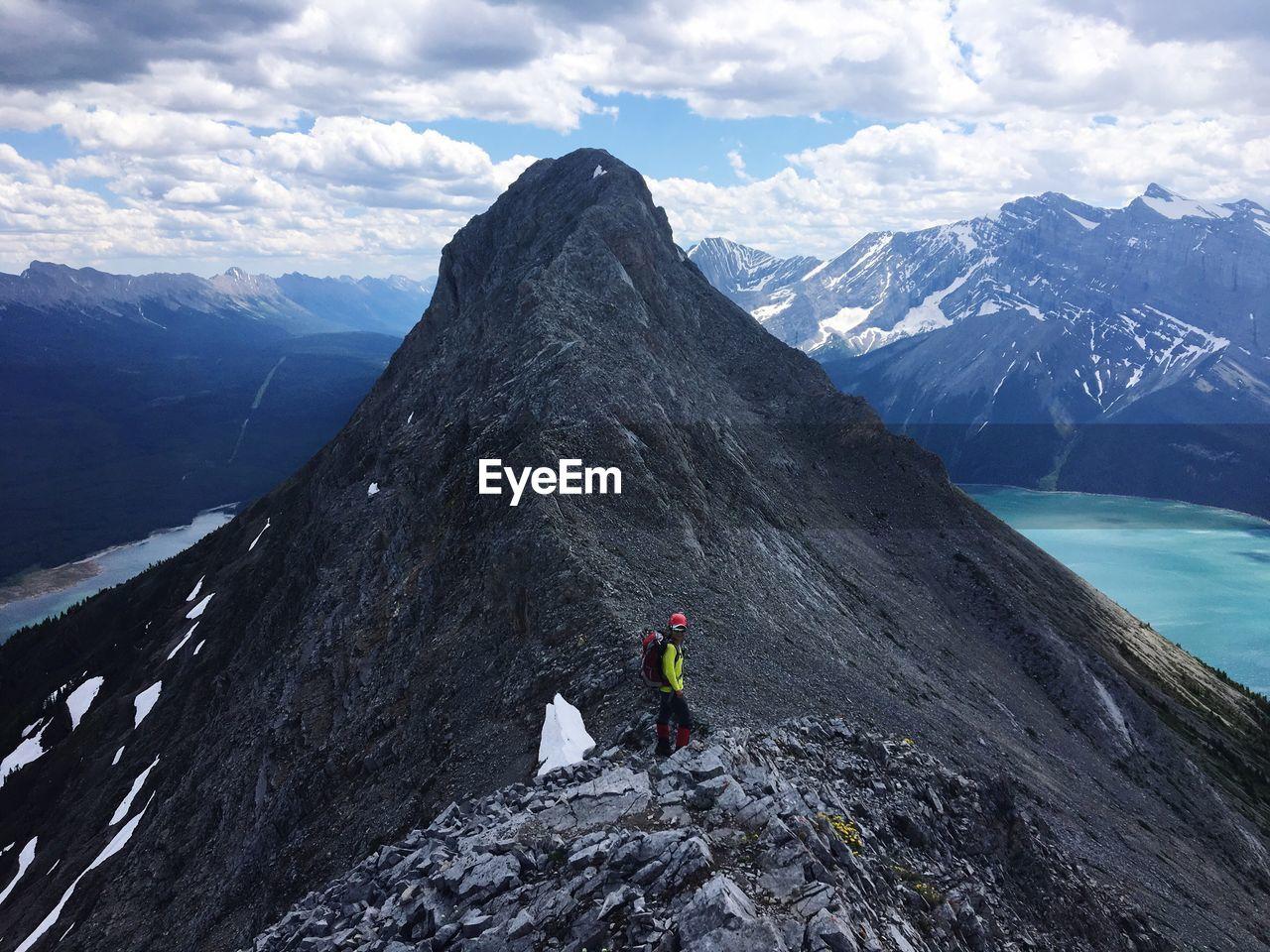 Mountain Climber In Canada