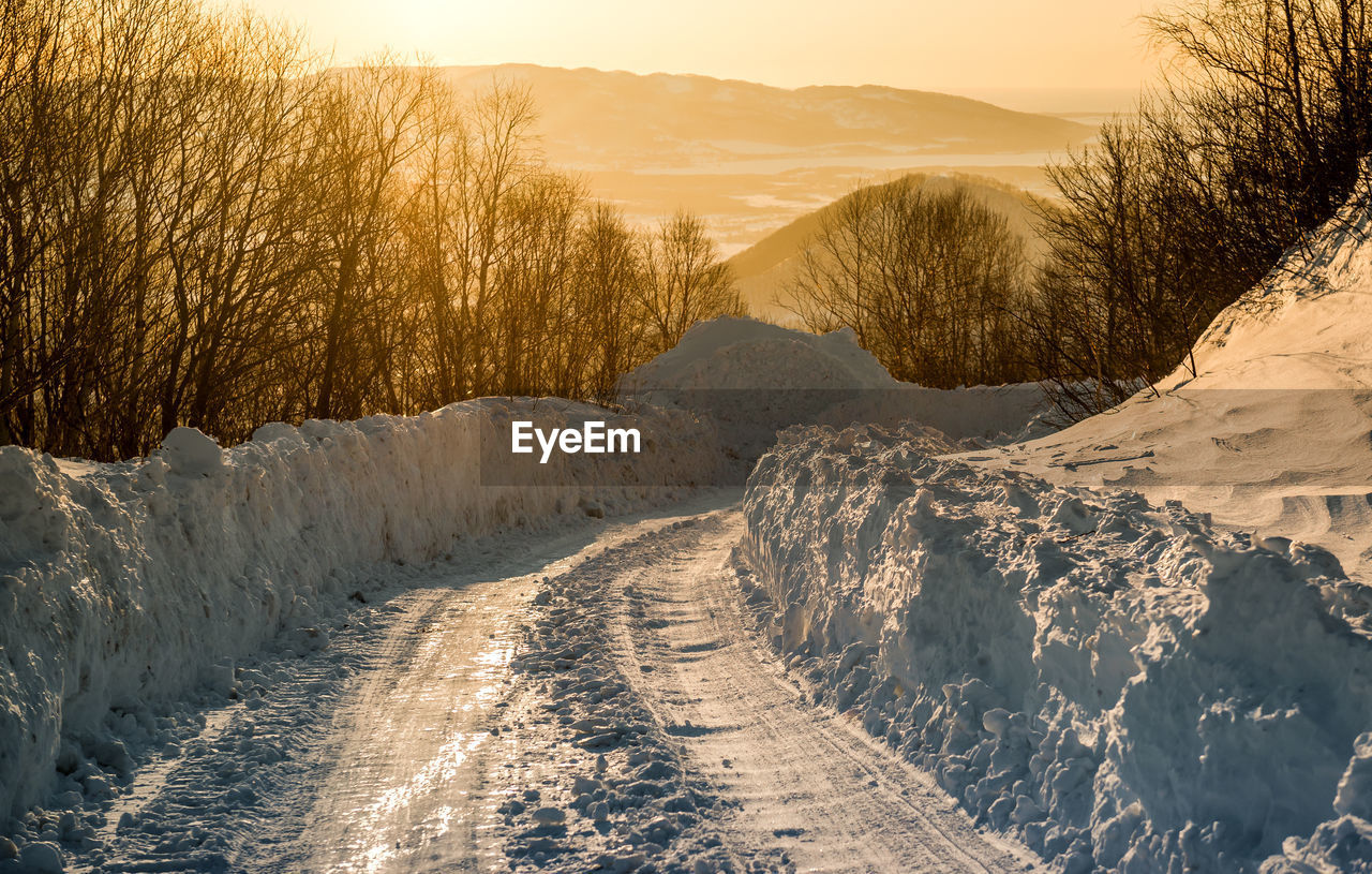 Panoramic View Of Landscape During Winter