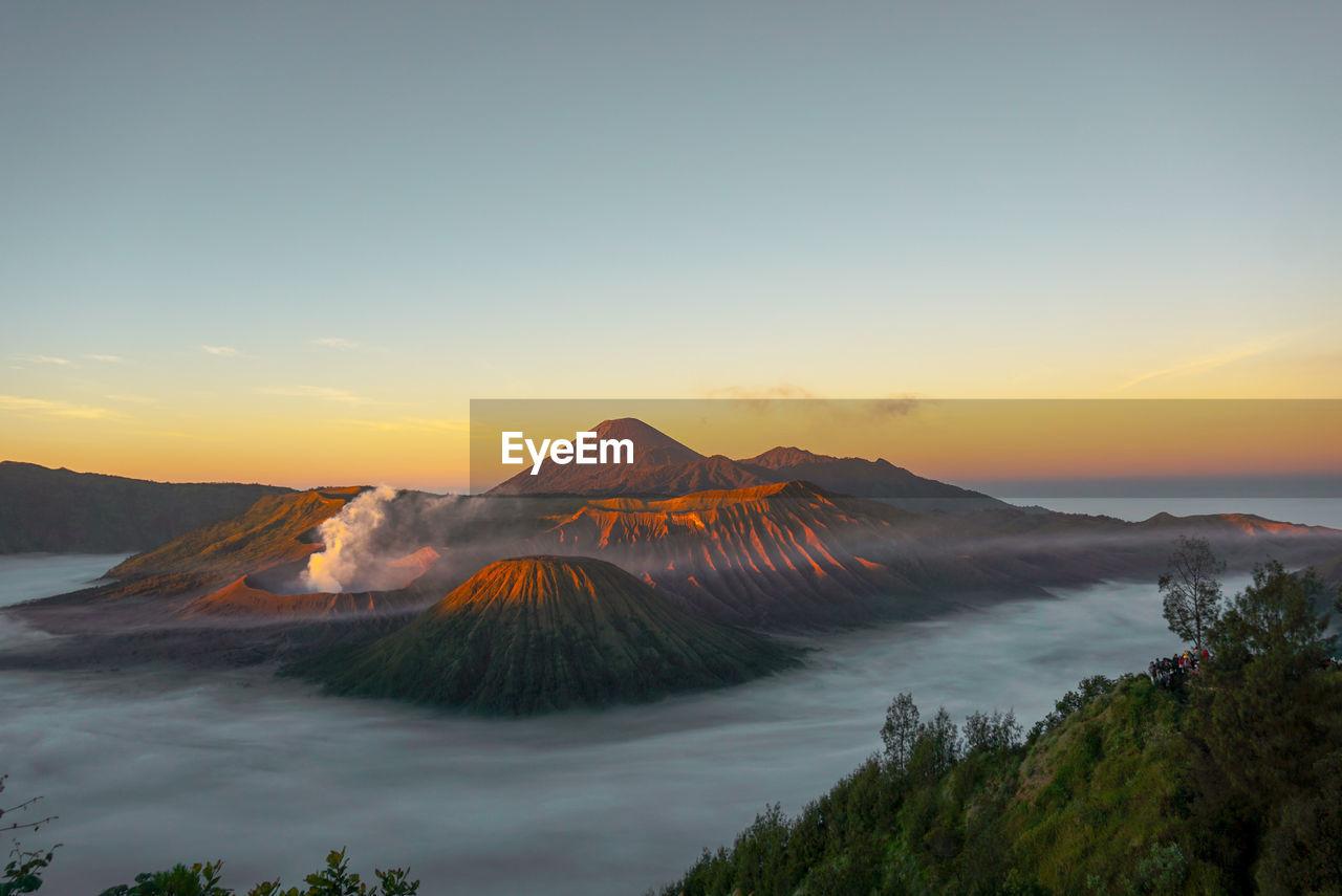 Morning view at national park bromo tengger semeru