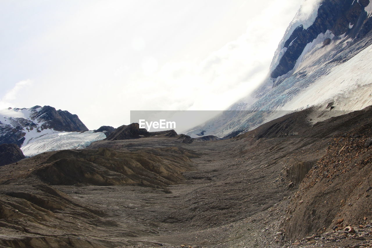 mountain, snow, beauty in nature, sky, cold temperature, landscape, environment, mountain range, scenics - nature, winter, nature, day, no people, cloud - sky, non-urban scene, tranquil scene, tranquility, outdoors, mountain peak, snowcapped mountain, formation