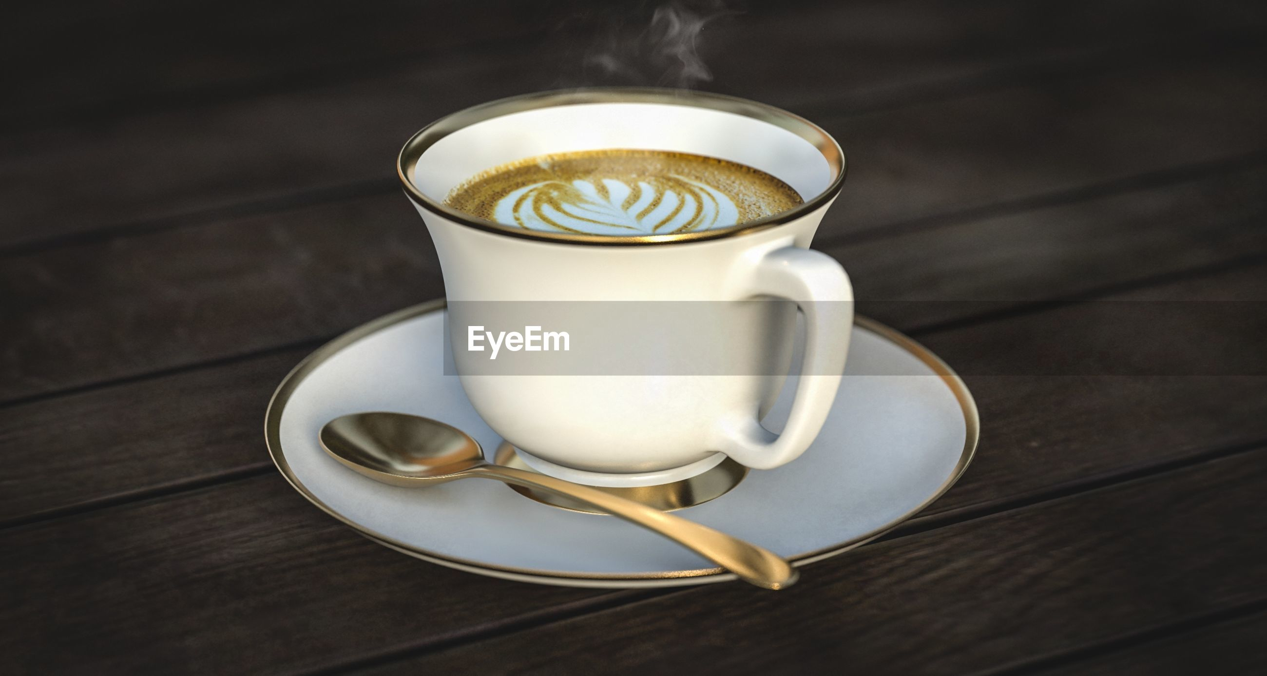 table, drink, refreshment, food and drink, coffee cup, indoors, no people, saucer, coffee - drink, focus on foreground, wood - material, frothy drink, freshness, close-up, day, froth art